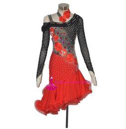 $enCountryForm.capitalKeyWord Australia - 2019 Latin Dance Skirt Women New Sexy Long Sleeve Back Sumba Rumba Competition Dancing Wear Adult High Quality Latin Dance Dresses