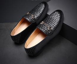 $enCountryForm.capitalKeyWord Australia - luxury formal shoes men loafers italian Brand Formal Dress wedding shoes men Casual Slip-On animal Leather Shoes W335