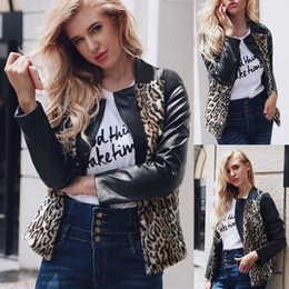$enCountryForm.capitalKeyWord NZ - women jacket Womens Warm Leopard Coat Stand Collar Jacket Parka Imitation Leather Outerwear chaqueta mujer dropshipping