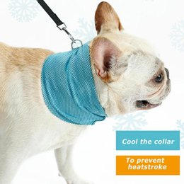 ice neck towel Australia - Summer Pet Cooling Scarf Dog Instant Ice Cold Collar Bulldog Summer Towel Scarf Wrap Neck Cooling For Dogs Product