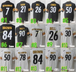 7e54bb98017 Pittsburgh Jersey Steelers 78 Alejandro Villanueva 30 James Conner 43 Troy  Polamalu James Harrison 75 Joe Greene 34 Terrell Edmunds Harris