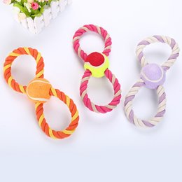 $enCountryForm.capitalKeyWord NZ - 28cm color random dog cotton rope toy tennis eight-character multi-color selection dog bite interactive toy pet supplies