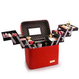 $enCountryForm.capitalKeyWord UK - Women Multi-layer Makeup Bag Large Capacity Professional Cosmetic Bag Organizer For Cosmetics Fashion Toiletry Bags Suitcases J190630