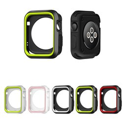 $enCountryForm.capitalKeyWord Australia - silicone cover for apple watch case 42mm 38 40mm 44mm sport band strap full frame rubber protector soft case for iwatch 4 3 2 1