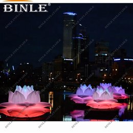 $enCountryForm.capitalKeyWord Australia - Romantic wedding decorations Giant inflatable Lotus flower model with led lights for sale