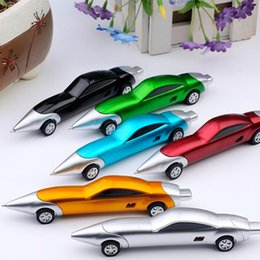 wholesale children pens UK - 1.0MM Novelty Racing Car Design Ball Pens Portable Creative Ballpoint Pen Quality For Child Kids Toys gifts Office School Supplies ZZA1886