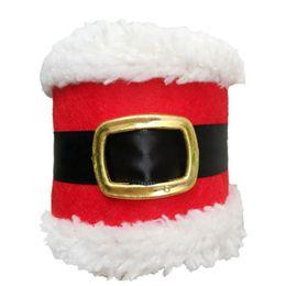 Santa Rings Australia - Christmas Santa claus Napkin Ring Table Decor Napkin Holder for Christmas Hotel holder,Tableware Dinner Christmas decoration