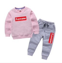 Branded Baby Kids Clothes Australia - hot New Baby Boys And Girls Suit Brand Tracksuits 2 Kids Clothing Set Hot Sell Fashion Spring Autumn Children's Dresses Long Sleeve T2164