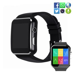Facebook For Android NZ - X6 Bluetooth Smart Watch Sport Passometer Smartwatch With Camera Watch Support SIM Card Whatsapp Facebook Wristband For Android Phone Watch