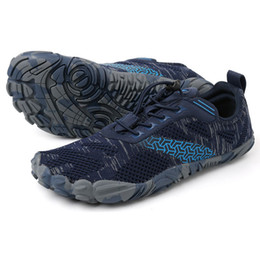 Comfortable Soft Women Shoes UK - Running Shoes Men Women Five Toes Sneakers Gym Yoga Shoes Non-slip Soft Bottom Comfortable Fitness Training Sport