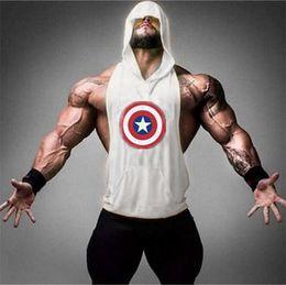 $enCountryForm.capitalKeyWord Australia - Muscle Guys Brand Gyms Stringer Hoodie Mens Clothing Sleeveless Sweatshirts Bodybuilding Hoodies Fitness Tank Tops Tanktops