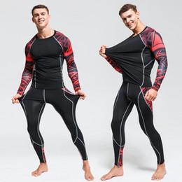 $enCountryForm.capitalKeyWord NZ - 2019 New Running Sets Men Sport Suit Compression Tight Underwear Fitness Gym Jogging Football Training Sport Suit