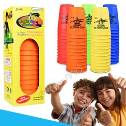 kids toy cube UK - Magic Flying Cup 12pcs set Game Using The Competitive Sports Toys Contest Creative Challenges Their Own Toys Hand speed sports