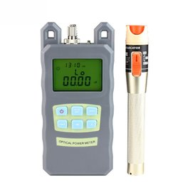 fiber tester Australia - 10mW Visual Fault Locator Fiber Optic Cable Tester and Optical Fiber Power Meter (-70dBm~+10dBm) Fiber Optic Power 10Km test pen