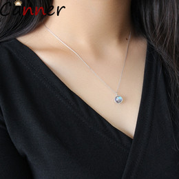 $enCountryForm.capitalKeyWord Australia - CANNER Planet Necklace Silver Long Chain Necklace For Women 925 Sterling Silver Statement Jewelry Bijoux Femme 2019 F40