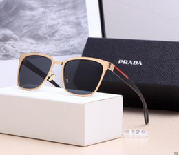 TiTanium semi frame glasses online shopping - Designer Sunglasses Luxury Sunglasses Designer Glass for Man Mens Adumbral Glasses UV400 with Box High Quality Brand P41 Color New Hot