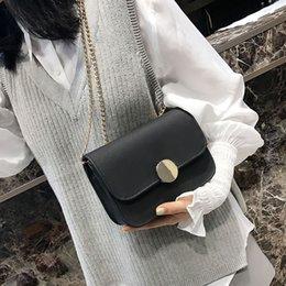 $enCountryForm.capitalKeyWord Australia - Free2019 Concise Small Square Package Chain Pearl Light Lock Single Shoulder Satchel Woman