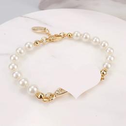 4 цвета Pearl браслет из бисера Женщины Rhinestone браслет Obit подарка для любви Подруга Бижутерия Аксессуары на Распродаже