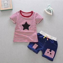 christmas clothes Australia - Newborn Baby Boy Clothes Set Blouse+Pant Infant Clothing Summer Outerwear Sport Kids Boy Cloth Children Kid Suit High
