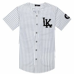 $enCountryForm.capitalKeyWord Australia - Baseball Hot Selled Men T-shirts Fashion Sportwear Hip Hop Jersey Striped Shirt Men Clothing Tyga Last Kings Clothes