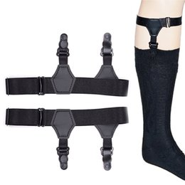 2019 Latest Design Mens Shirt Crease-resist Anti-skid Clip Legs Thigh Elastic Adjustable Suspender Holder Stays Garters For Gentlemen A30 Men's Accessories