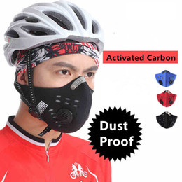 $enCountryForm.capitalKeyWord NZ - Windproof Respirator Bicycle Face Mask Anti-dust Half Face Mascara Bicicleta with Filter Neoprene For Bicycle Motor Cycle