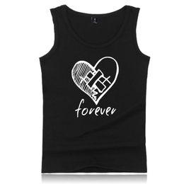 10b3992ea701 Men Unisex Summer Sleeveless Pullover Shirt Popular Hip Hop Rapper Letters  Broken Heart Printed Vest Tank Top Plus Size