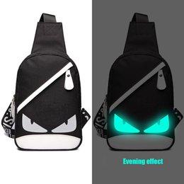 Novo Designer Cross Body Marca Bolsa de Ombro Homens Fluorescência Crossbody Sacos de Moda Little Monster Messenger Bag venda por atacado
