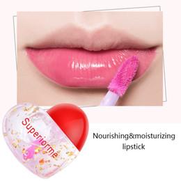 $enCountryForm.capitalKeyWord Australia - Women\'s New Fashion Lipstick Beauty Shining Flower Crystal Jelly Lipstick Magic Temperature Changing Lips Heart Shape Beauty