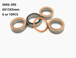Si3n4 ball online shopping - 6pcs S696 RS x15x5mm ABEC Stainless Steel hybrid Si3n4 ceramic bearing RS RS CB LD for fishing reel mm