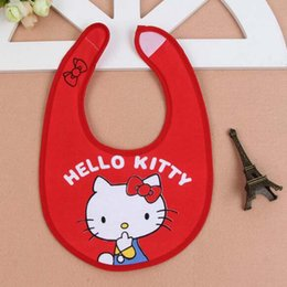 Wholesale Hello Kitty Cartoon Pattern Meal Bib Baby Burp Cloths High Quality Cotton Bibs Washable Accessories Brooches