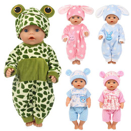 jumpsuit babies Australia - 12 Styles Choose Leisure Sports Doll Clothes Wear Fit 43cm Baby Doll Jumpsuit Suit Children Best Birthday Gift