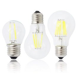 Globe Glasses Australia - E27 Lamp A60 LED Filament Dimmable 4W G45 Retro Glass Edison 220V Bulb Replace Incandescent Light Chandeliers