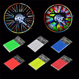colour wire NZ - Colour Reflector Spokes Men Women Outdoor Cycling Sports Bicycle Accessories Mountain Bike Steel Wire Wind Fire Wheel 3