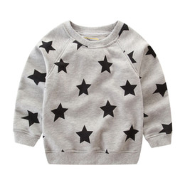 Wholesale jump clothing online – design Jumping Meters Kids Baby Boys Sweatshirts Star Printed Long Sleeve O neck Tops Autumn Cotton T Shirt Clothing Children s Hoodies