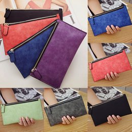 women cards Canada - Fashion Lady Women Leather Clutch Wallet Long Card Holder Case Purse Handbags