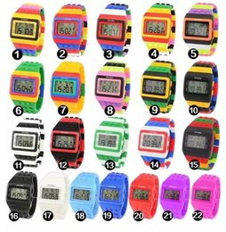 Black Blocks Australia - Led Electronic Colorful Building Block Tide Table Shhors Men And Women Wrist Watch Student Surface