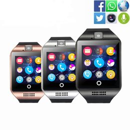 Gsm Sim Card Compatible NZ - Bluetooth Smart Watch Smartwatch Q18 Android Phone Call Relogio 2G GSM SIM TF Card Camera Sport Pedometer Smart Watch PK GT08 A1