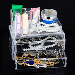 clear makeup drawers cosmetics Australia - 1PC Clear Plastic Storage Drawer Box Cosmetic Makeup Organizer Case Jewelry Storage Box Holder Rangement