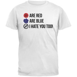 Red Black Grey Shirts Canada - Roses are Red Poem White Adult T-Shirt size discout hot new tshirt white black grey red trousers tshirt RETRO VINTAGE Classic t-shirt