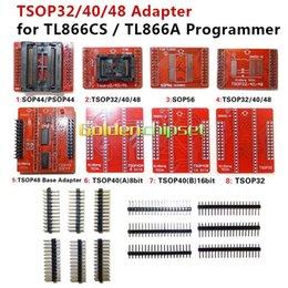 8 pz / lotto Adattatori originali TSOP32 TSOP40 TSOP48 SOP44 SOP56 Kit adattatore per MiniPro TL866 TL866A TL866CS Programmatore universale freeshipping in Offerta