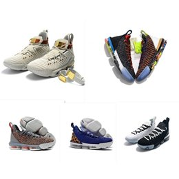 flower shoes kids NZ - Mens what the lebron 16 XVI basketball shoes for sale flowers MVP Christmas BHM Oreo youth kids Generation boots with Size 7 12