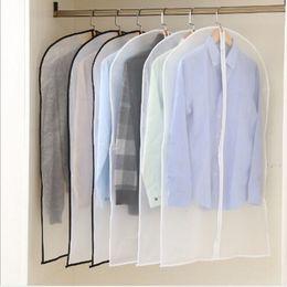 $enCountryForm.capitalKeyWord Australia - Clothes Dust Cover Transparent Hanging Bag Wardrobe Coat Storage Bag Clear Garment Suit Dress Protect Cover Suit Bag