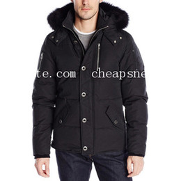 Wholesale long black fox fur collars resale online - cheapsneakers Classic black men s Q cold winter Down Jacket hooded with real fox fur collar Eur size XS XL