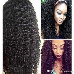 Medium Dark Brown Hair Australia - Women Human Hair Lace Wig Brazilian Human Hair Lace Front 130% Density With Baby Hair Kinky Curly Wig Chestnut Brown Medium Brown Dark