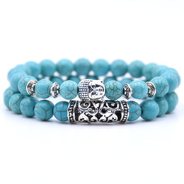 $enCountryForm.capitalKeyWord NZ - Natural Stone Beads Bracelet Set Energy Yoga Bead Bracelet Two Couples Birthday Valentine's Day Easter Gifts