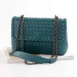 $enCountryForm.capitalKeyWord Canada - Luxury Handbags Women Bags Designer Chain Bag High Quality Genuine Sheepskin Woven Messenger Bags For Women 2019 bolsa feminina