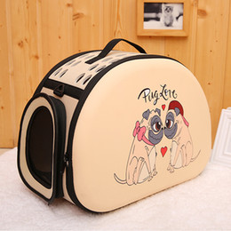 small animal house 2019 - Outdoor Small Foldable Travel Puppy Cat 3D Pattern Shoulder Carrier House Portable Fashion Sleeping Breathable Mesh Pet