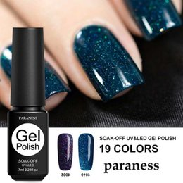 Paraness New Glitter Neon Gel UV Nail Polish Esmalte Permanente Colorful Neon UV Gel Lacquer Art Soak Off brilhante Nail Polish