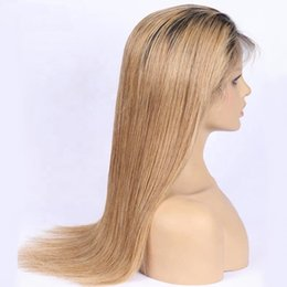 honey blonde ombre lace wig Australia - Lace Front virgin Human Hair Wigs 1b 27 color Straight Transparent Short Wigs 130% Honey Blonde ombre color